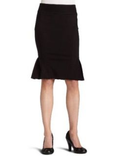 com XOXO Juniors Chevron Pleated Pencil Skirt,Black,13/14 Clothing