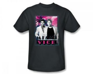 Miami Vice   Gotchya Slim Fit Adult T Shirt In Charcoal