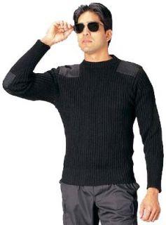 6362 Govt Black Wool Commando Sweater (54) Clothing