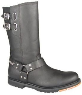 Mens Harley   Davidson Diablo Harness Boots Black, BLACK, 11 Shoes