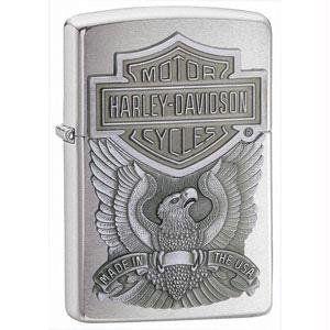 Zippo Harley Davidson Eagle/Logo Emblem Lighter (Silver, 5