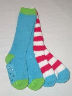 pk. Knee High Slipper Socks (S/M Fits Shoe Size Youth 10 13) Clothing