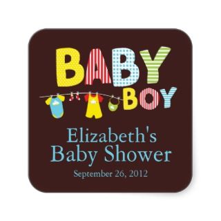 Baby Boy Baby Shower Sticker stickers by celebrateitinvites