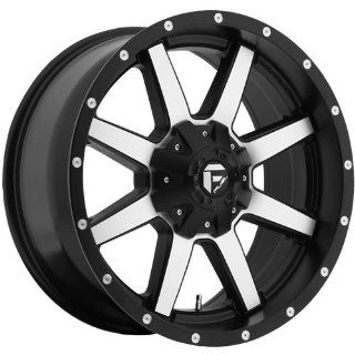 Fuel Maverick 18 Machined Black Wheel / Rim 8x6.5 with a 1mm Offset