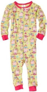 Gerber Baby Girls Infant Monkey Twirl Cotton Unionsuit