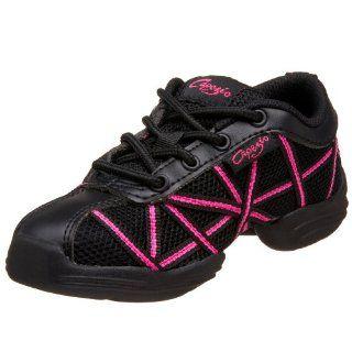 Kid Web DS19C Dance Sneaker,Black/Hot Pink,12.5 M US Little Kid Shoes