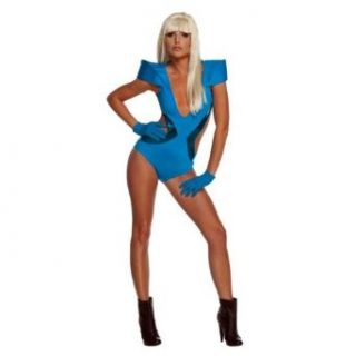 Lady Gaga Blue Swim Suit Costume Clothing