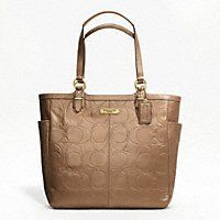 Coach F20741 Gallery Embossed Leather Tote Copper
