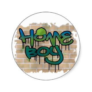 hip hop graffiti design round stickers