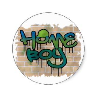 hip hop graffiti design round stickers