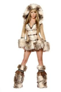 J.Valentine The Eskimo Faux Fur Halloween Costume (Medium