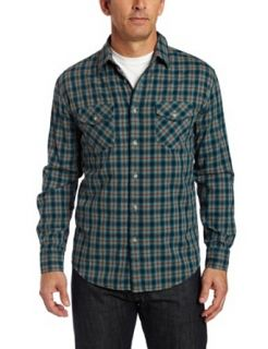 Pendleton Mens Street Two Pocket Shirt, Turquoise/Brown