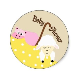 Stuffed Animals Baby Shower Sticker