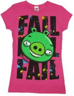 Fail   Angry Birds Sheer Womens T shirt Junior Small