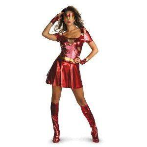 Iron Man   Iron Woman Sassy Adult Costume Size 12 14 Large