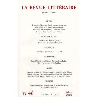 La Revue Litteraire T.46; mai 2010   Achat / Vente livre La Revue