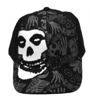 The Misfits Punk Rock Danzig Skull Logo Stretch Flex Cap