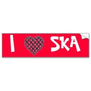 Heart Ska Bumper Stickers