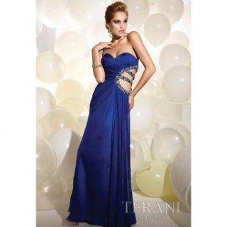 Terani Couture Junior Girls Blue Size 0 Chiffon Elegant