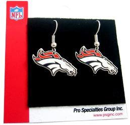 Denver Broncos Silver Earrings New Nfl Stainless Steel