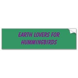 Save the Environment Bumperstickers, Environment Bumper Stickers