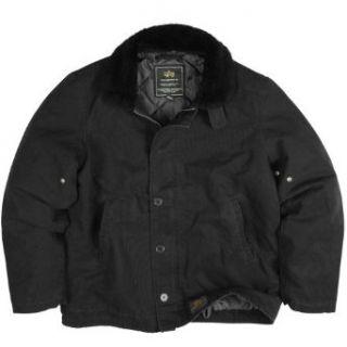 Alpha Industries Deck Jacket, Black Size M Clothing