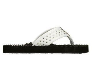 Skechers Womens Works Kiss & Run White Sandal 38002/WHT Shoes