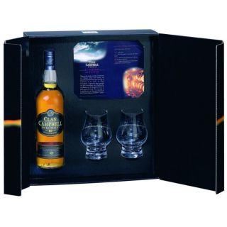 10 ans Coffret 2 verres (70cl)   Achat / Vente Clan Campbell 10