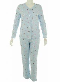 Charter Club Womens 2 Piece Pajama Set Blue Birds M