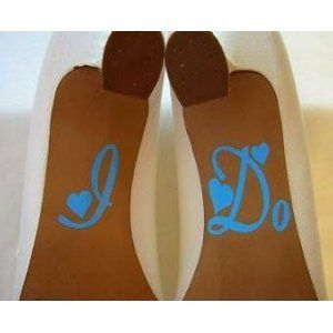 I Do for wedding shoes vinyl decal stickers Home