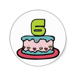 Year Old Birthday Cake Sticker