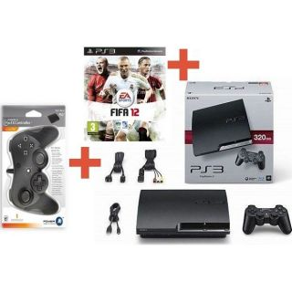 PS3 320 Go + FIFA 12 + MANETTE PRO EX CONTROLLER   Achat / Vente