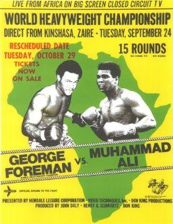 Boxing George Foreman vs Muhammad ALI Poster Zaire Africa