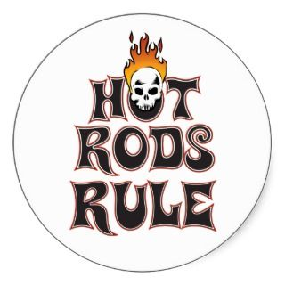 Hot Rods Rule 3 Sticker