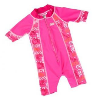 Baby Banz Pink Graffiti One Piece Girls Swimsuit 12 months
