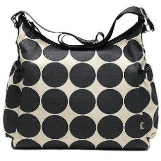 Designer Sand Black Dot Hobo Diaper Bag Purse Tote OiOi