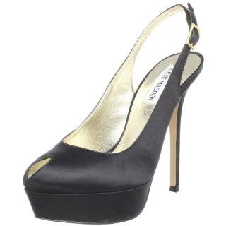 Steve Madden Womens Laineyy Pump,Black Satin,11 M US Shoes