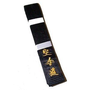 Martial Arts Black Belt  MASTER Silk/Satin JAPANESE
