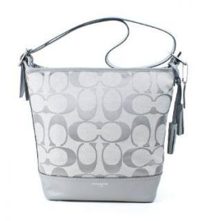 Coach Legacy Signature Duffle Bag Purse Tote 21149 Grey
