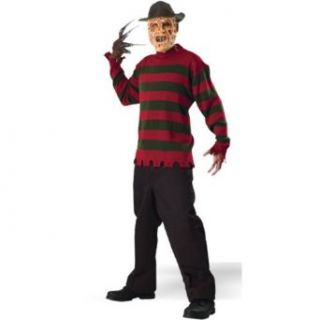 Adult Freddy Krueger Sweater   Standard fits (36 44): Clothing