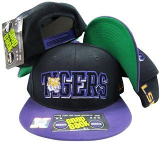 LSU Louisiana State Tigers Black/Purple Two Tone Plastic