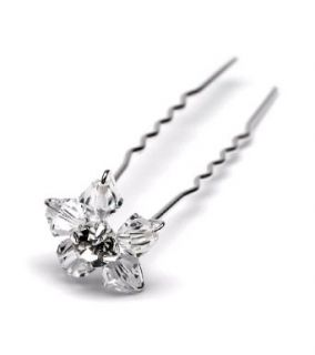 Bridal Hair Pin, Swarovski Crystal Floret Pin 288