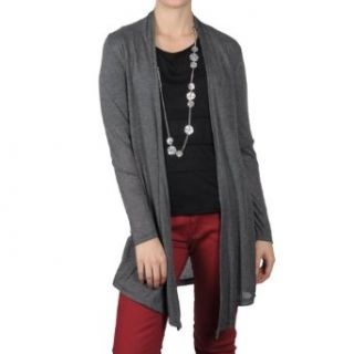 Hailey Jeans Co Womens Open Front Long Sleeve Cardigan