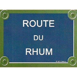 PLAQUE DE RUE MEAL 20X15cm ROUE DU RHUM   Acha / Vene ABLEAU
