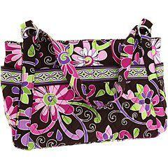 Vera Bradley Stephanie Purple Punch Bag Purse Shoes
