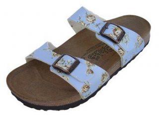 Birko flor Sandal, Roses Light Blue, 38 N Eu (Us Womens 7 N) Shoes