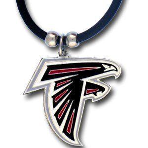 Atlanta Falcons Logo Pendant w/Rubber Cord   NFL Football
