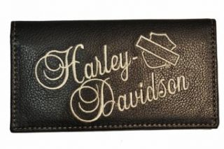 Harley Davidson® Womens Black Check Book Cover in