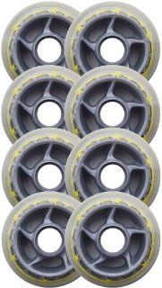 BARBED WIRE 80mm 79a Rollerblade INLINE Wheels 8 Pack
