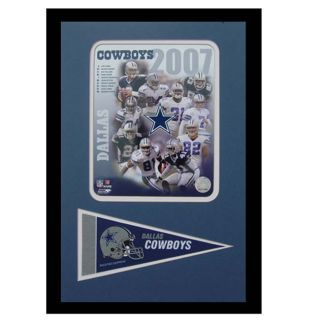 Dallas Cowboys 2007 Frame with Mini Pennant
